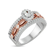 14K White Gold 3/4 Ct.Tw. Diamond Engagement Ring