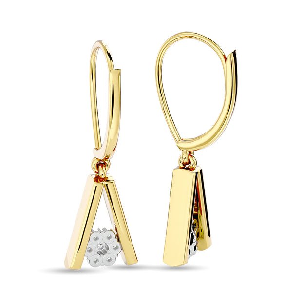 Diamond Fashion Earrings 1/10 ct tw in 10K Yellow Gold