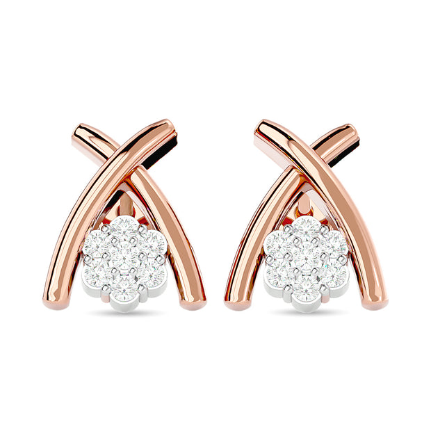 Diamond Fashion Earrings 1/10 ct tw in 10K Rose Gold