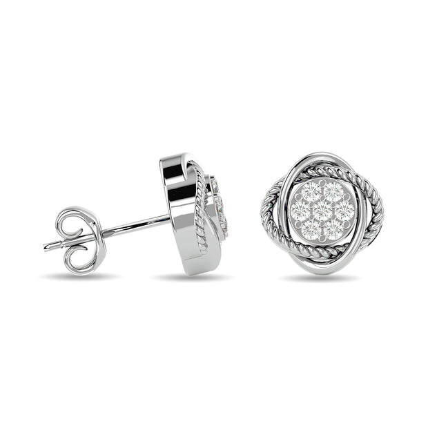 Diamond Fashion Earrings 1/4 ct tw in 10K White Gold