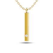 Diamond Bar Pendant 1/50 ct tw in 10K White Gold