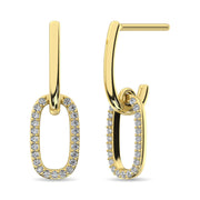 Diamond Fashion Earrings 1/5 ct tw in 14K White Gold