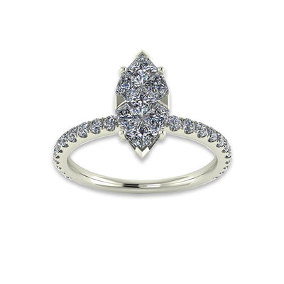 Marquise Diamond Ring 0.86 CTW