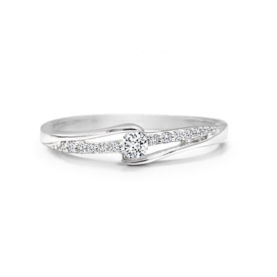 CR-R8313-8W- 10 K Gold and 0.13 Ctw Fancy Diamond Ring