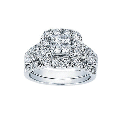 14-K-White-Gold-2.00-ctw-Multistones-Engagement-Diamond-Ring-Fame-Diamonds
