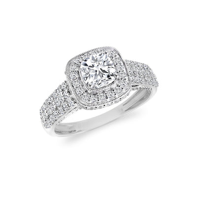 CR-R5248-30CU- 14 K Gold and 0.9 Ctw Engagement Diamond Ring