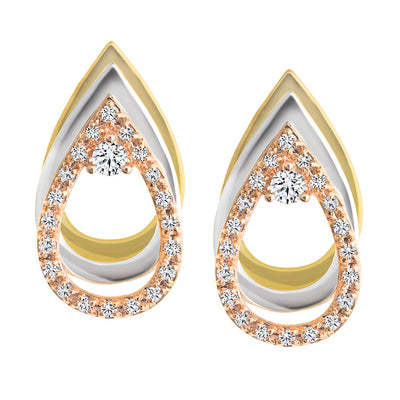 CR-E7015 - 10 K Gold and 0.25 Ctw Diamond Earring