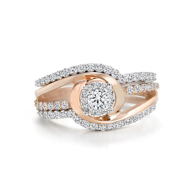 14 K Gold and 0.9 Ctw Canadian Diamond Engagement Ring