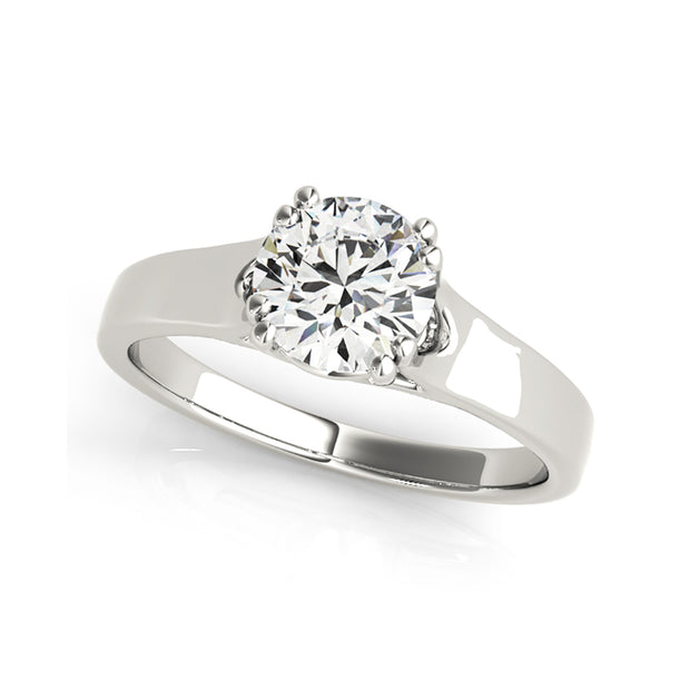Traditional Round Brilliant Cut Diamond Engagement Ring