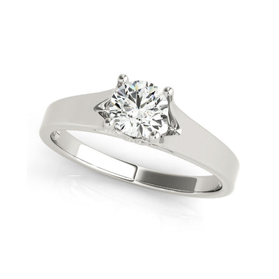 4-Prong Fancy Solitaire Diamond Engagement Ring