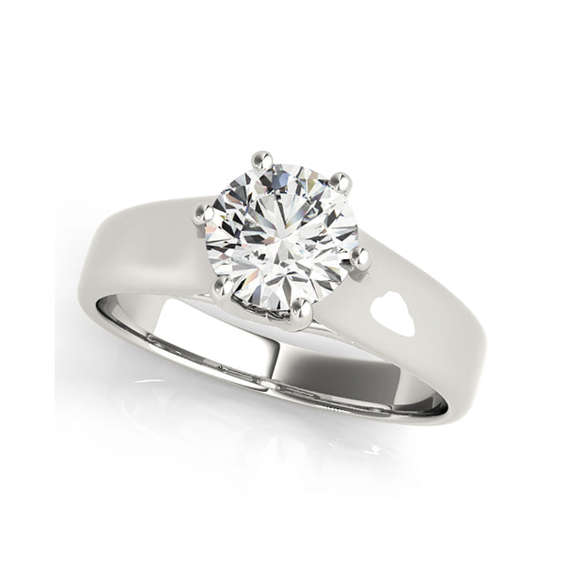 Round Brilliant Cut Solitaire Six Prongs Diamond Engagement Ring
