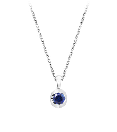 Half moon Sapphire Necklace