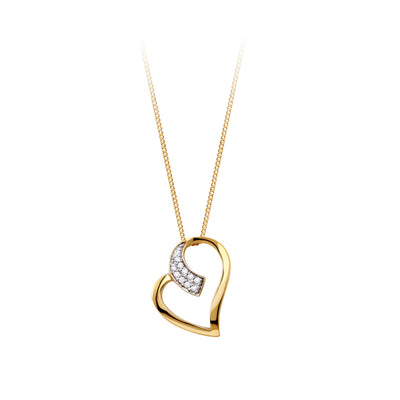 10k-yellow-gold-diamond-heart-necklace