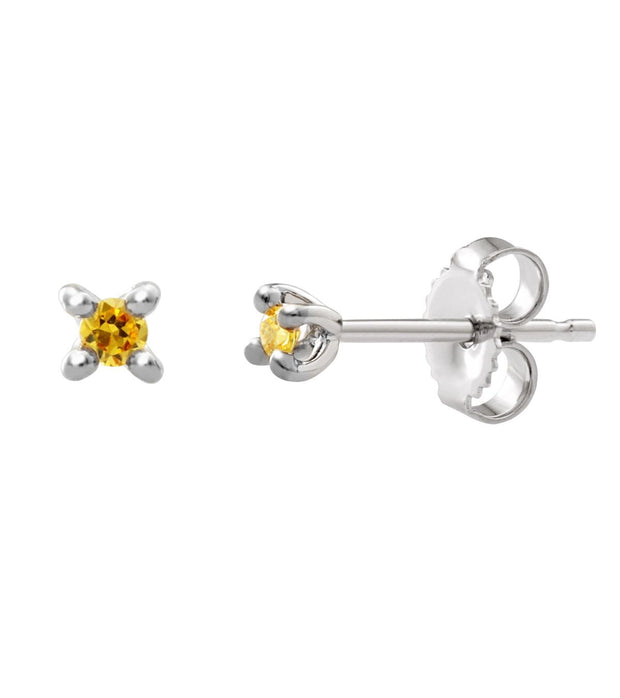 Yellow Diamond Stud Earrings