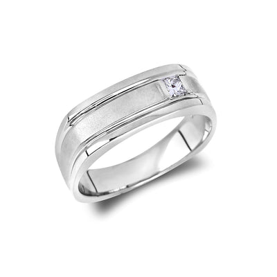 CR-GR1079-PR15W - Verragio - 10k 0.15 ctw Mens Wedding Band