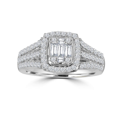 14-K-White-Gold-1.20-ctw-Multistones-Engagement-Diamond-Ring-Fame-Diamonds