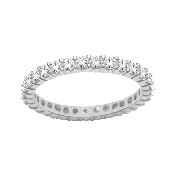 14-K-White-Gold-0.33-ctw-Round-Brilliant-Eternity-Diamond-anniversary-Wedding-Band-Fame-Diamonds