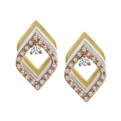 CR-E5976 - 10 K Gold and 0.2 Ctw Diamond Earring