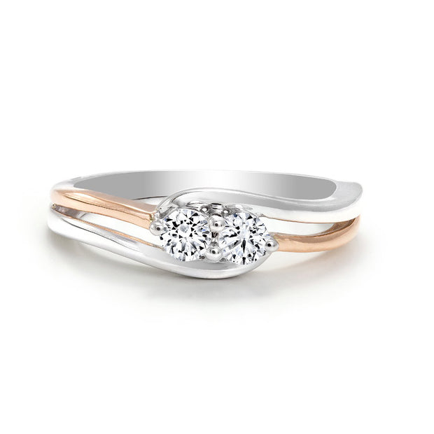 CR-R7049-16WR- 10 K Gold and 0.16 Ctw Fancy Diamond Ring