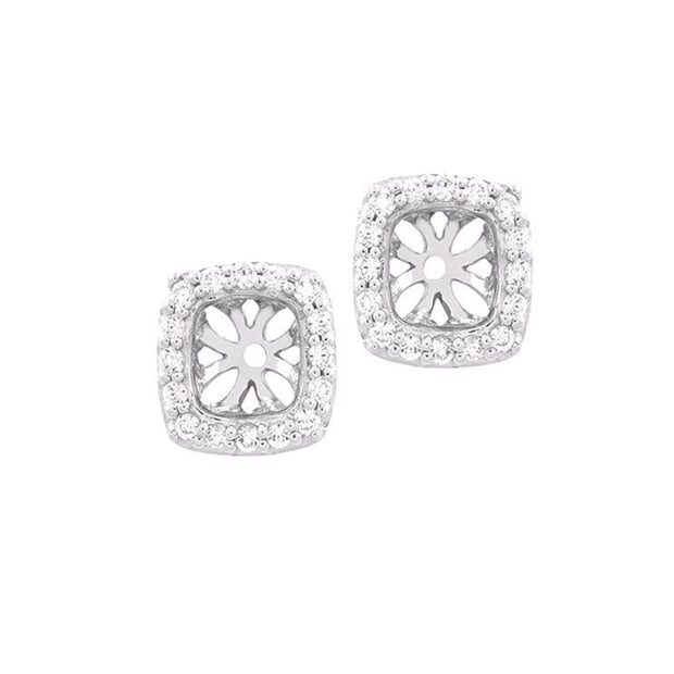 14K White Gold 0.25 Ct  Earring Jackets