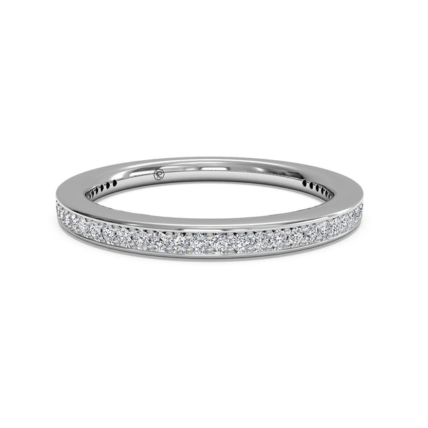 31694 - Ritani 14 K White Gold  0.24Ct Diamond Wedding Band