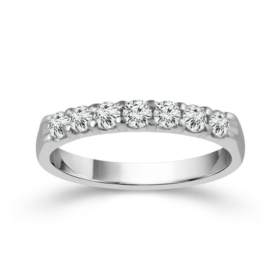14-K-White-Gold-0.5-ctw-Round-Diamond-Wedding-Band-anniversary-ring-Fame-Diamonds