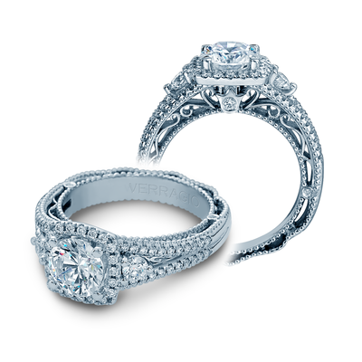 AFN-5055CU - Verragio - 14K 0.55ctw Semi- Mount Engagement Ring