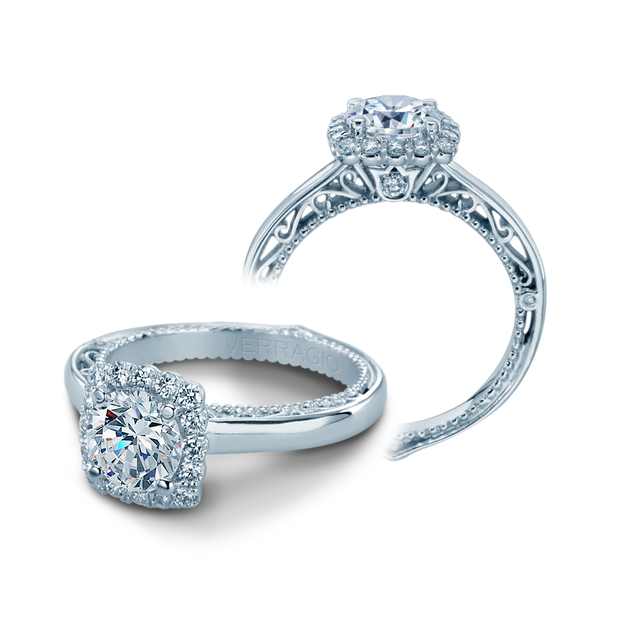 AFN-5019CU - Verragio - 14K 0.25ctw Semi- Mount Engagement Ring