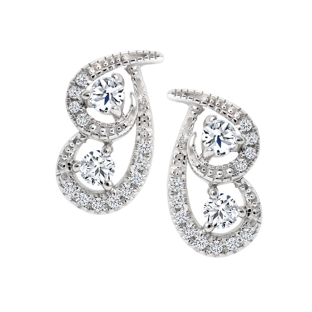 CR-E51598 - 10 K Gold and 0.29 Ctw Diamond Earring