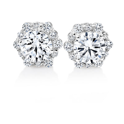 CR-E6873 - 14 K Gold and 1.25 Ctw Diamond Earring
