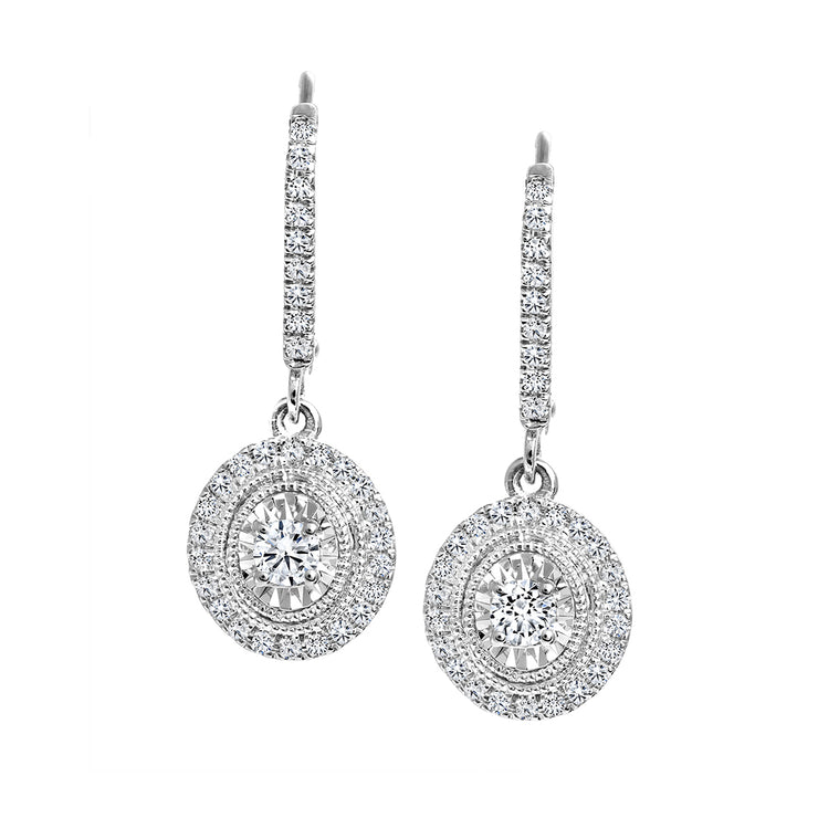 CR-E7393 - 10K & 14K Canadian Diamond Earrings