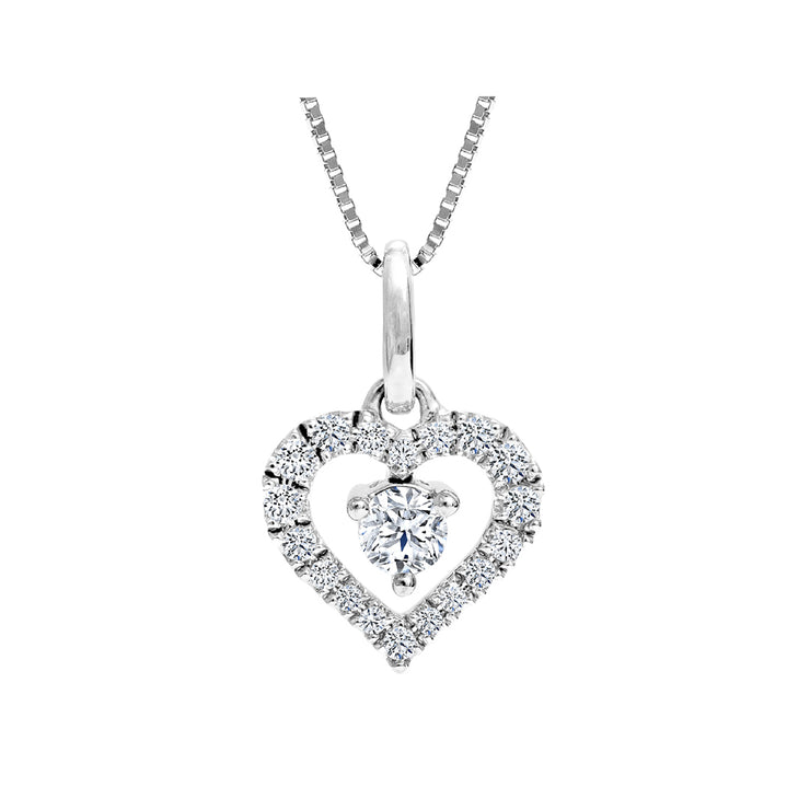CR-P130342 - 10K White Gold Canadian Diamond Pendant