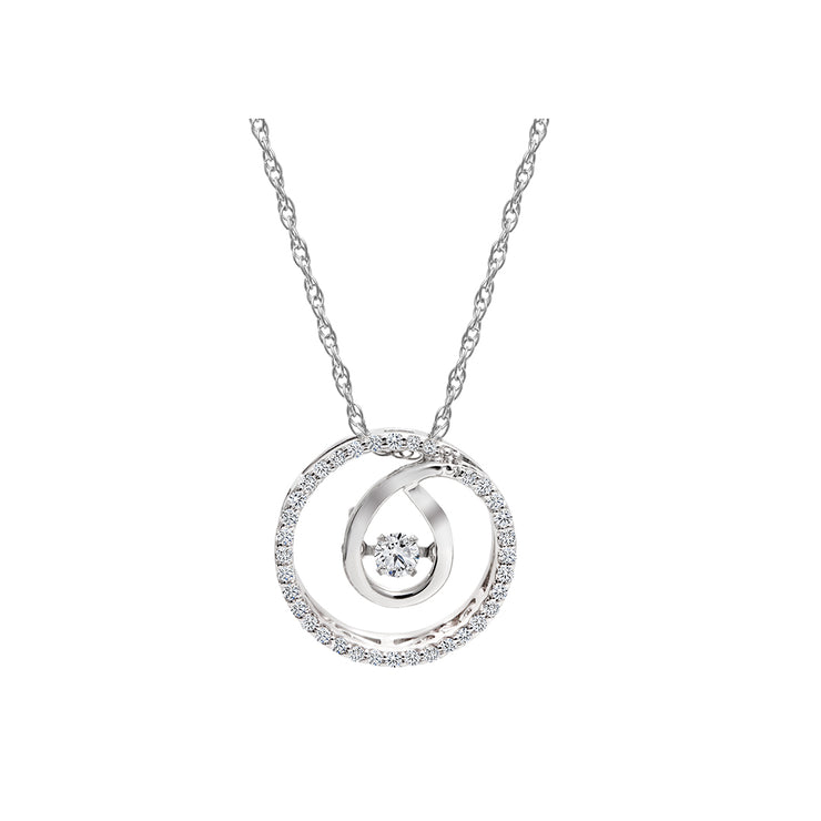 CR-P2296 - 10K White Gold Canadian Diamond Pendant