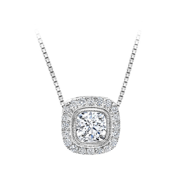 CR-P2580 - 10K White Gold Canadian Diamond Pendant