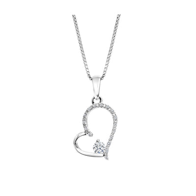 CR-P2590 - 10K White Gold Canadian Diamond Pendant
