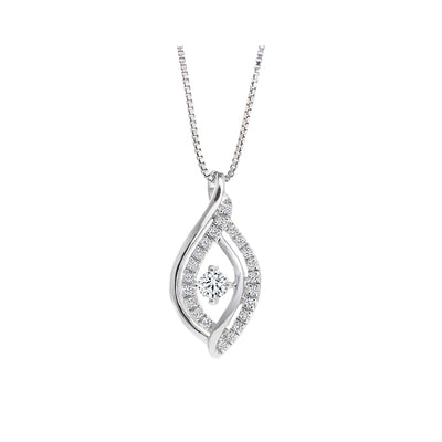 CR-P2998 - 10K White Gold Canadian Diamond Pendant