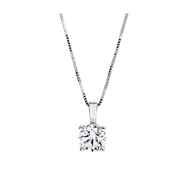 CR-P315 - 14K White Gold Canadian Diamond Pendant