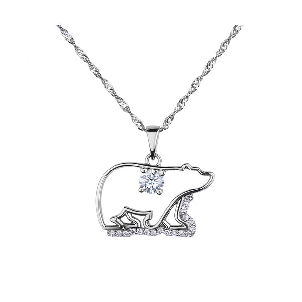 CR-P318 - 14K White Gold Canadian Diamond Pendant