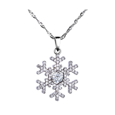 CR-P322 - 14K White Gold Canadian Diamond Pendant