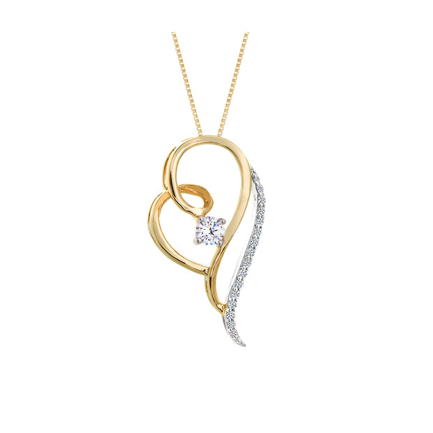 CR-P3355 - 10K Canadian Diamond Pendant