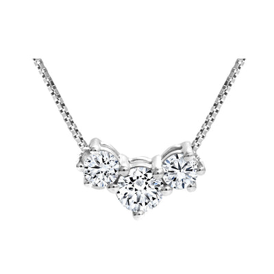 CR-P3ST7730 - 14K White Gold Canadian Diamond Pendant