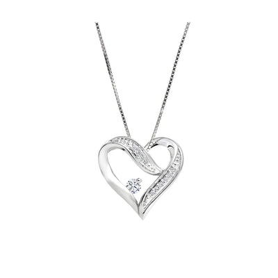 CR-P51778 - Sterling Silver Canadian Diamond Pendant