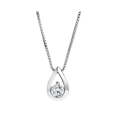 CR-P5340 - White Gold Canadian Diamond Pendant