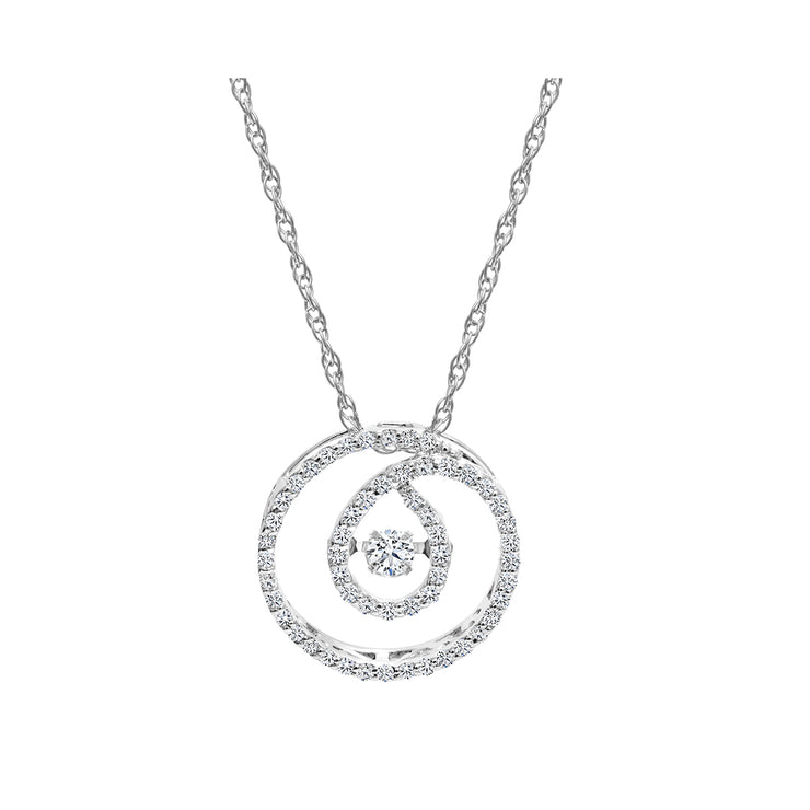 CR-P6309 - 10K White Gold Canadian Diamond Pendant