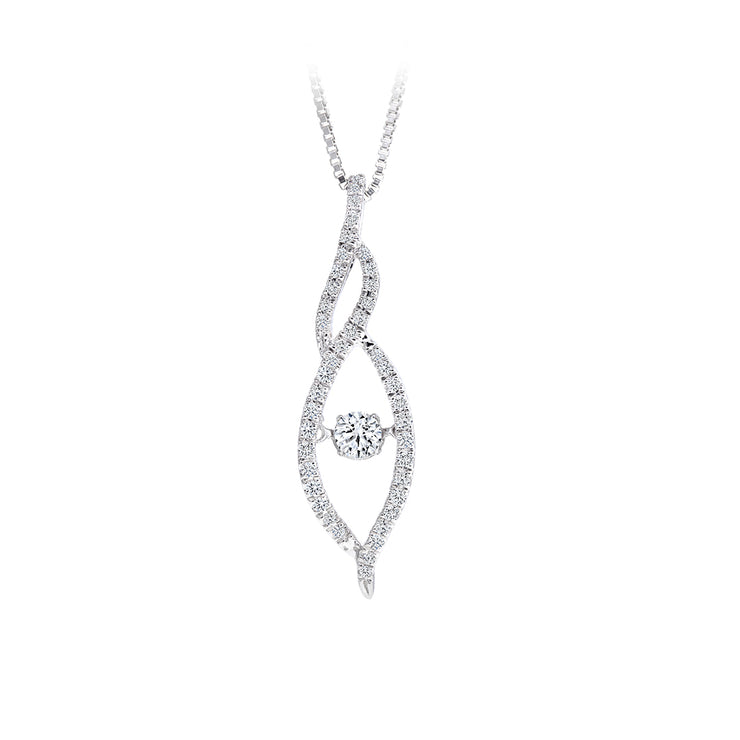 CR-P8944 - 10K White Gold Canadian Diamond Pendant