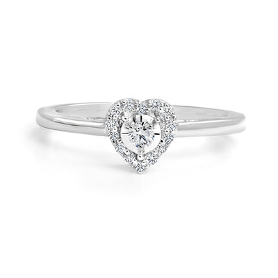CR-R0534- 10 K Gold and 0.12 Ctw Fancy Diamond Ring