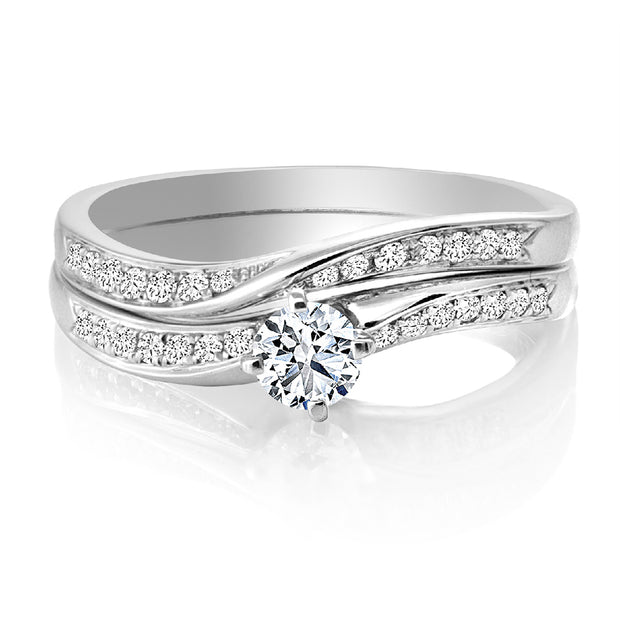 CR-R107026SET - 14K White Gold Canadian Diamond Engagement Ring