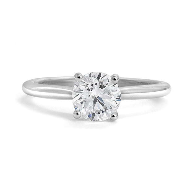 CR-R11106 - 14K White Gold Canadian Diamond Engagement Ring