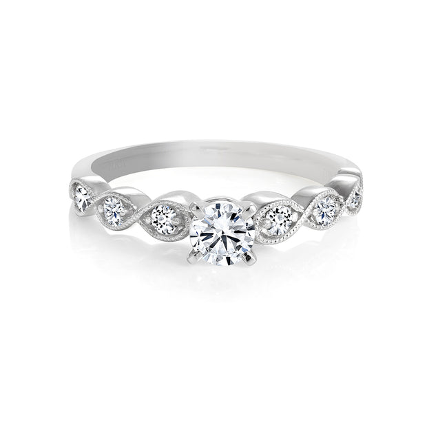 CR-R115115 - 14K White Gold Canadian Diamond Engagement Ring
