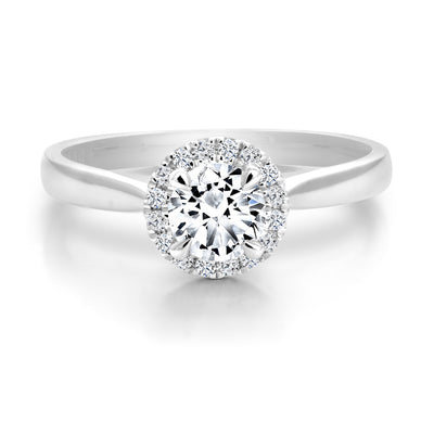 CR-R116505 - 14K White Gold Canadian Diamond Engagement Ring